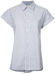 Golden Goose Deluxe Brand Striped Short Sleeve Shirt Grey