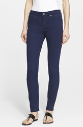 Joie Stretch Denim Skinny Jeans Dark Navy