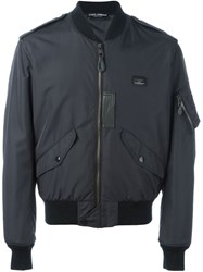 Dolce And Gabbana Classic Bomber Jacket Blue