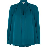 River Island Womens Green Blue 2 In 1 Blouse