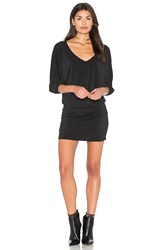 Bishop Young Double V Dolman Dress Black