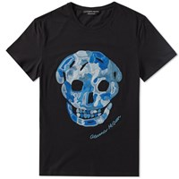 Alexander Mcqueen Embroidered Skull Tee Black