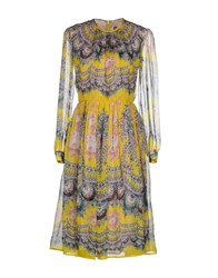 Msgm Dresses Knee Length Dresses Women Yellow