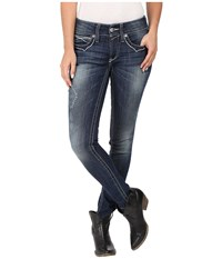 Ariat R.E.A.L. Skinny Aztec In Baltic Baltic Women's Jeans Blue