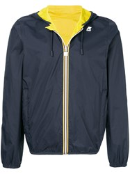 K Way Contrast Trim Windbreaker Blue