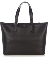 Smythson Burlington Leather Tote Bag Black