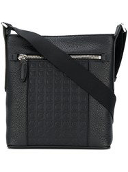 Salvatore Ferragamo Gancio Messenger Bag Black