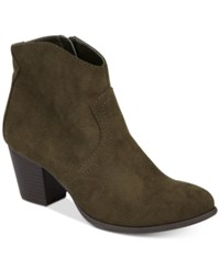 American Rag Rylie Western Ankle Booties Created For Macy's Women's Shoes Olive