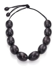 Josie Natori Wooden Necklace
