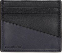 Jil Sander Black And Grey Card Holder