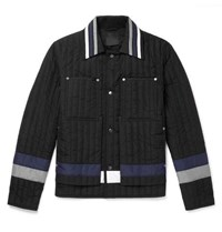 Craig Green Colour Block Quilted Shell Jacket Black