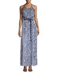 Michael Michael Kors Plains Zebra Pleated Dress True Navy