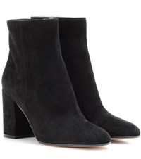 Gianvito Rossi Suede Ankle Boots Black