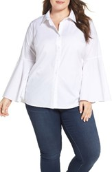 Vince Camuto Plus Size Women's Bell Sleeve Shirt