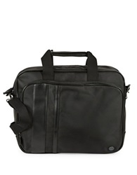 Ben Sherman Leatherette Accented Brief Case Black