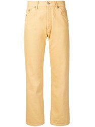 Jacquemus High Waist Straight Leg Jeans Yellow