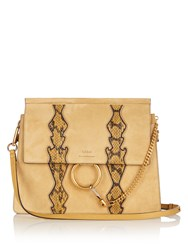 Chloe Faye Medium Leather Shoulder Bag Light Yellow