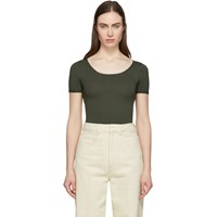 Christophe Lemaire Green Second Skin Short Sleeve Pullover
