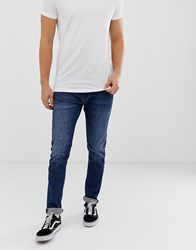 Replay Jondrill Stretch Skinny Jeans In Dark Wash Blue