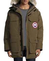 Canada Goose Expedition Hooded Parka With Fur Trim Olive