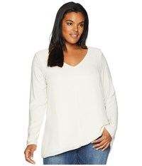 Lysse Plus Size Linden Long Sleeve Top Oyster Clothing Beige