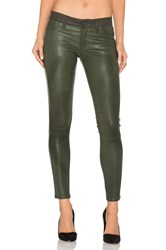 Dl1961 Emma Leather Power Legging Olive