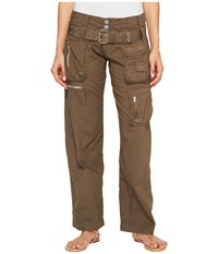 Johnny Was Poplin Cargo Pants Bistre Hue Women's Casual Pants