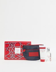 Tommy Hilfiger Girl 50Ml Set Body Wash Cosmetic Pouch No Colour Clear