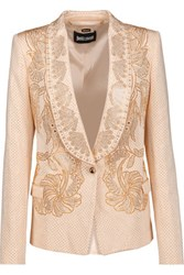 Just Cavalli Studded Cady Blazer Cream