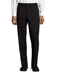 Michael Kors Wool Blend Flat Front Dress Pants Black