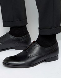 Base London Ford Leather Derby Shoes Black