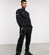 Ellesse Carl Sweatpant With Reflective Stripes In Black Exclusive At Asos