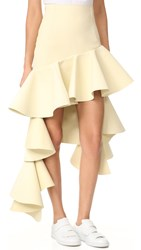 Jacquemus Tiered Skirt Beige