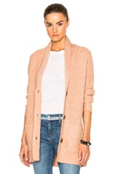 Atm Anthony Thomas Melillo Shawl Collar Sweater In Pink