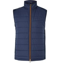 Rlx Ralph Lauren Quilted Shell And Wool Blend Golf Gilet Navy