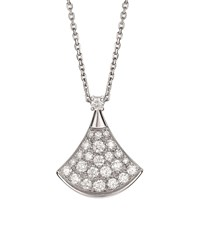 Bulgari White Gold And Diamond Divas' Dream Necklace Silver