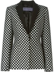 Emanuel Ungaro Polka Dot Fitted Blazer Black