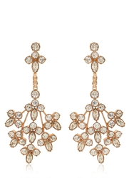 Mawi Crystal Blossom Earrings Rose Gold