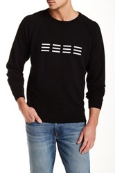 Baldwin Crew Neck Graphic Print Sweater Black