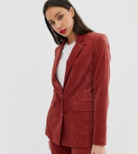 Asos Design Tall Suit Blazer In Velvet Pink
