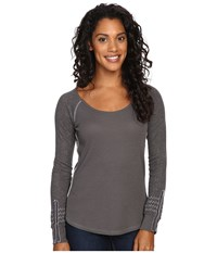 Kuhl Alva Thermal Carbon Swirl Women's Long Sleeve Pullover Gray