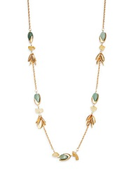 Cara Multi Chain And Bead Necklace Matte Gold
