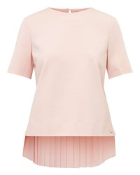 Ted Baker Naevaa Pleated Back Top Blush
