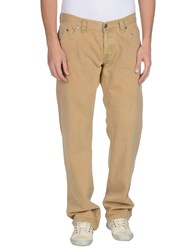Boss Orange Denim Denim Trousers Men Sand