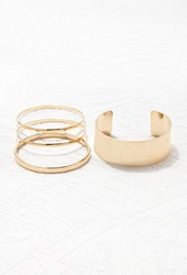 Forever 21 Wrist Cuff And Bangle Set Gold
