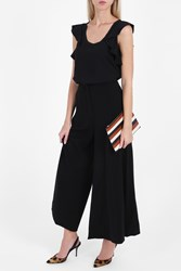 Elizabeth And James Delany Crepe Gaucho Trousers Black