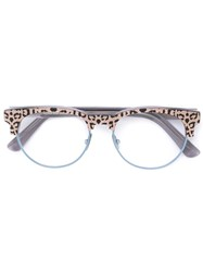 Cutler And Gross Leopard Print Glasses Pink And Purple