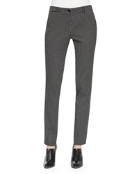 Etro Dotted Jacquard Skinny Pants