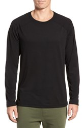 Alo Yoga Triumph Raglan Long Sleeve T Shirt Solid Black Triblend