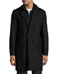 Marc New York Truro Pressed Wool Coat Black